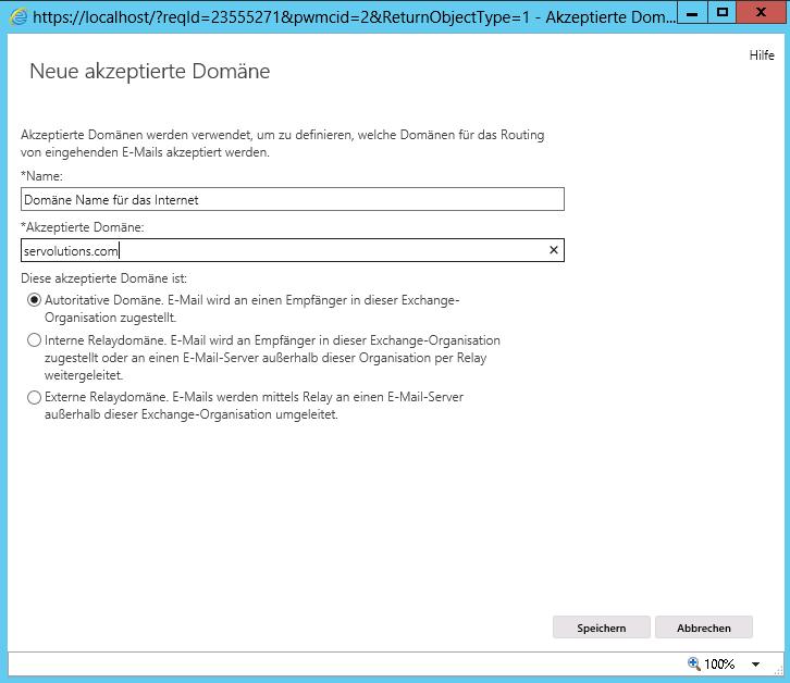 Einrichten von Exchange Server 10 oder 10